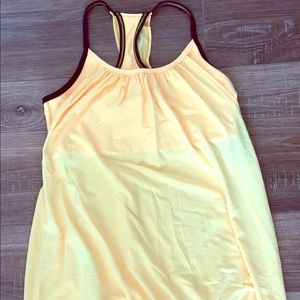 Lululemon Yellow Tank with Bra Top